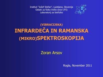 INFRARDEČA IN RAMANSKA (MIKRO)SPEKTROSKOPIJA - IJS