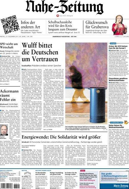 Wulff bittet die Deutschen um Vertrauen Gemeinde an der