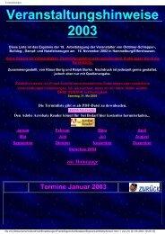 Termine Mai 2003 - Holderfreunde.de