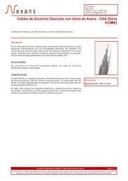 Cables de Aluminio Desnudo con Alma de Acero - CAA ... - Nexans