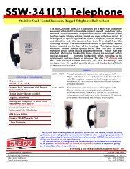 SSW-341(3) Telephone Stainless Steel, Vandal Resistant ... - Ceeco