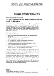 PRESSE-KURZINFORMATION - Allen Carr's Easyway