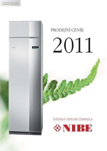 Tepelná čerpadla NIBE ceník
