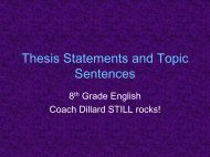 Thesis Statements and Topic Sentences - Bgawebsites.org