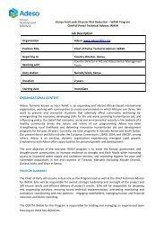 Job Description ORGANIZATIONAL CONTEXT - Adeso