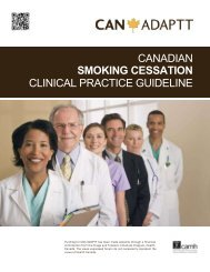 Canadian Smoking Cessation Clinical Practice Guideline