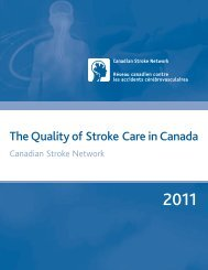 The Quality of Stroke Care in Canada - Canadian Stroke Network