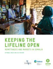 Keeping the lifeline open - Oxfam International