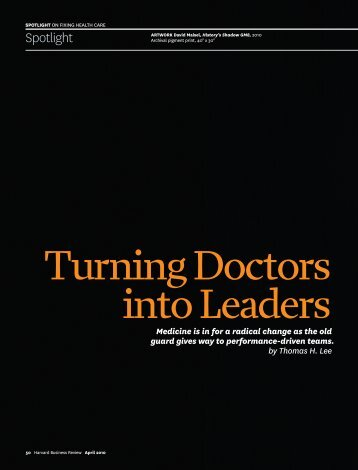 Turning Doctors Into Leaders - NHS North West Leadership Academy