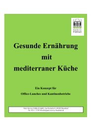 Mediterrane Küche - Party-Service Fröhlich
