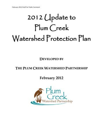 2012 Update to Plum Creek Watershed Protection Plan