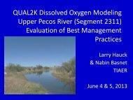 Segment 2311 - Pecos River WPP Implementation Program