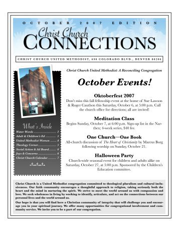 News, Oct 07 - Christ Church United Methodist