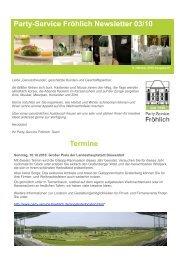 Newsletter3/2010 - Party-Service Fröhlich