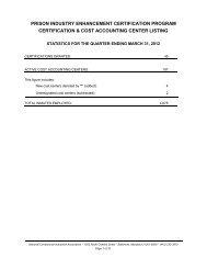 prison industry enhancement certification program - National ...