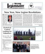 Jan-Feb 2013 - The American Legion Department of Maine
