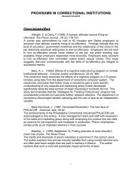 An Annotated Bibliography - National Correctional Industries ...