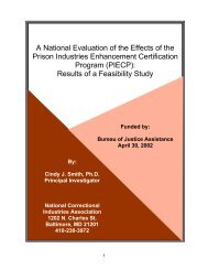 PIE Feasibility Study Final Report - National Correctional Industries ...
