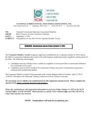 Corporate Member Award Nomination form - National Correctional ...
