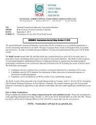 Rodli Award Nomination form - National Correctional Industries ...