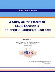 A Study on the Effects of ELLIS Essentials on English ... - Pearson