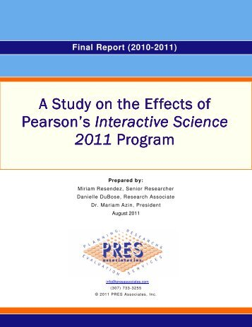 Interactive science series pearson a study on the effects of pearsons interactive science 2011 program fandeluxe Image collections