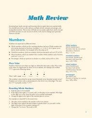 Math Review - Pearson