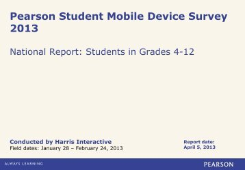 Pearson Student Mobile Device Survey 2013 – National Report on ...