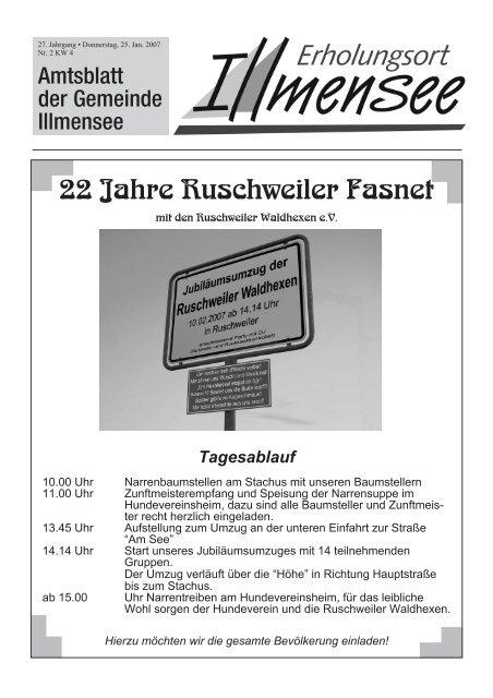 22 Jahre Ruschweiler Fasnet Illmensee