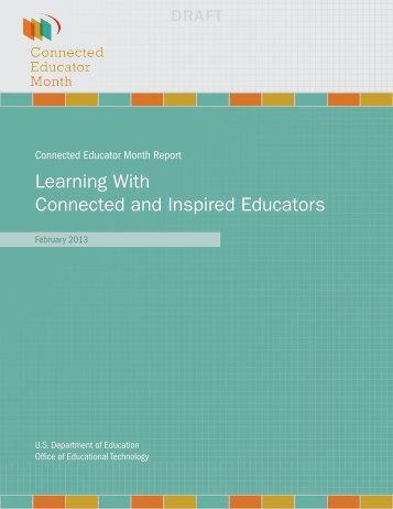 2012 Report - Connected Educators