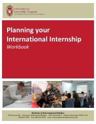 our workbook - International Internship Program - University of ...