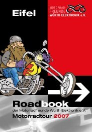 Roadbook Eifel - Home - Motorradfreunde Würth Elektronik eV