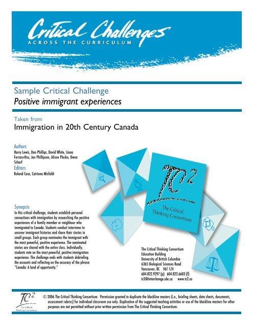 critical thinking consortium tc2