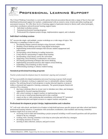 Essay about critical thinking consortium toronto
