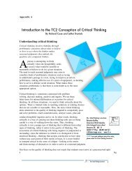 Introduction to the TC2 Conception of Critical Thinking