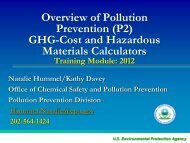 GHG Calculator - The National Pollution Prevention Roundtable