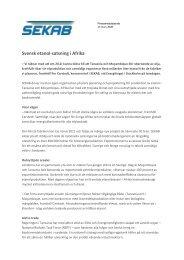 Svensk etanol-satsning i Afrika (PDF) - SEKAB