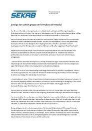 Sverige tar samlat grepp om förnybara drivmedel (PDF) - SEKAB