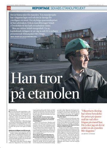 Läs artikeln från Dagens industri (PDF) - SEKAB