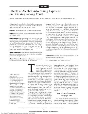impact of advertising on youth Impact of social advertisement on indian  impact of social advertisement on indian society 2  2003), effect of anti-smoking advertising on youth.