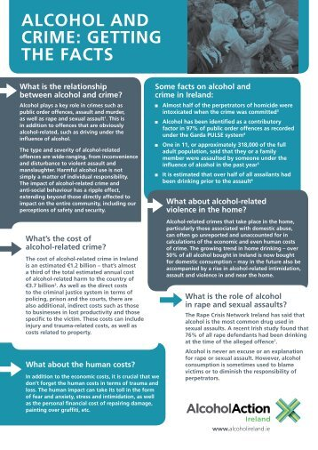 alcohol and crime: getting the facts - Alcohol Action Ireland