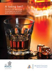 A losing bet? - Alcohol Concern