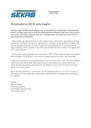 Vinterkvalitet av E85 för extra trygghet (PDF) - SEKAB