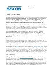Så blir etanolen hållbar (PDF) - SEKAB