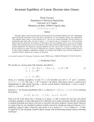Invariant Equilibria of Linear Discrete-time Games