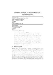 Feedback solutions to dynamic models of optimal taxation 1 ...