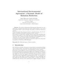 International Environmental Agreement: a Dynamic Model of ...