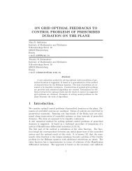 ON GRID OPTIMAL FEEDBACKS TO CONTROL PROBLEMS OF ...