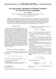 On Approximate Algorithm for Minimal Committee of a System of ...