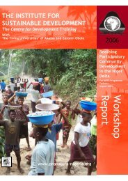 Realising Participatory Community Development Training Report